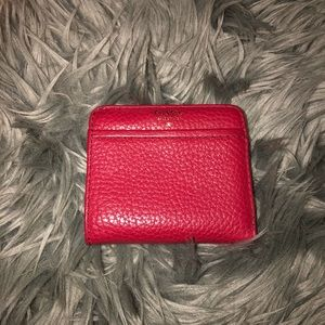 Fossil small red wallet